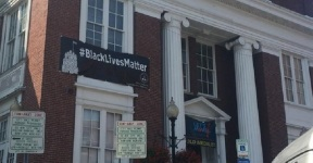 black-lives-matter-banner on govt building